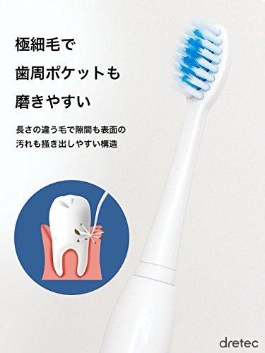 dretec(ドリテック)『音波式電動歯ブラシ(TB-314)』