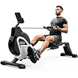 Dripex Magnetic Rowing Machine (2021 Version) for Home Use Rameur for Home Gym & Cardio Training Silent Indoor Rower with Aluminum Sliding Rail, 16 Adjustable Resistance Level & LCD Monitor (Sliver)