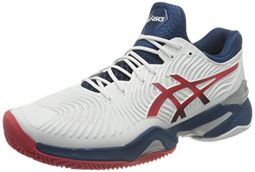 ASICS Herren Court FF 2 Clay Tennis Shoe, White/Mako Blue, 43.5 EU