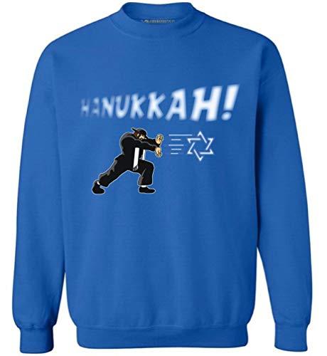 Awkward Styles Hannukah Sweatshirt Ugly Hanukkah Sweater Jewish Blue S