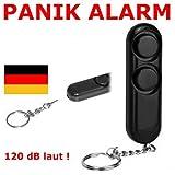 Schlüsselanhänger Handtaschen Alarm Sirene Selbstverteidigung Überfall Camping Panik LKW PKW Handgerät Taschenalarm Knopf Sirene -