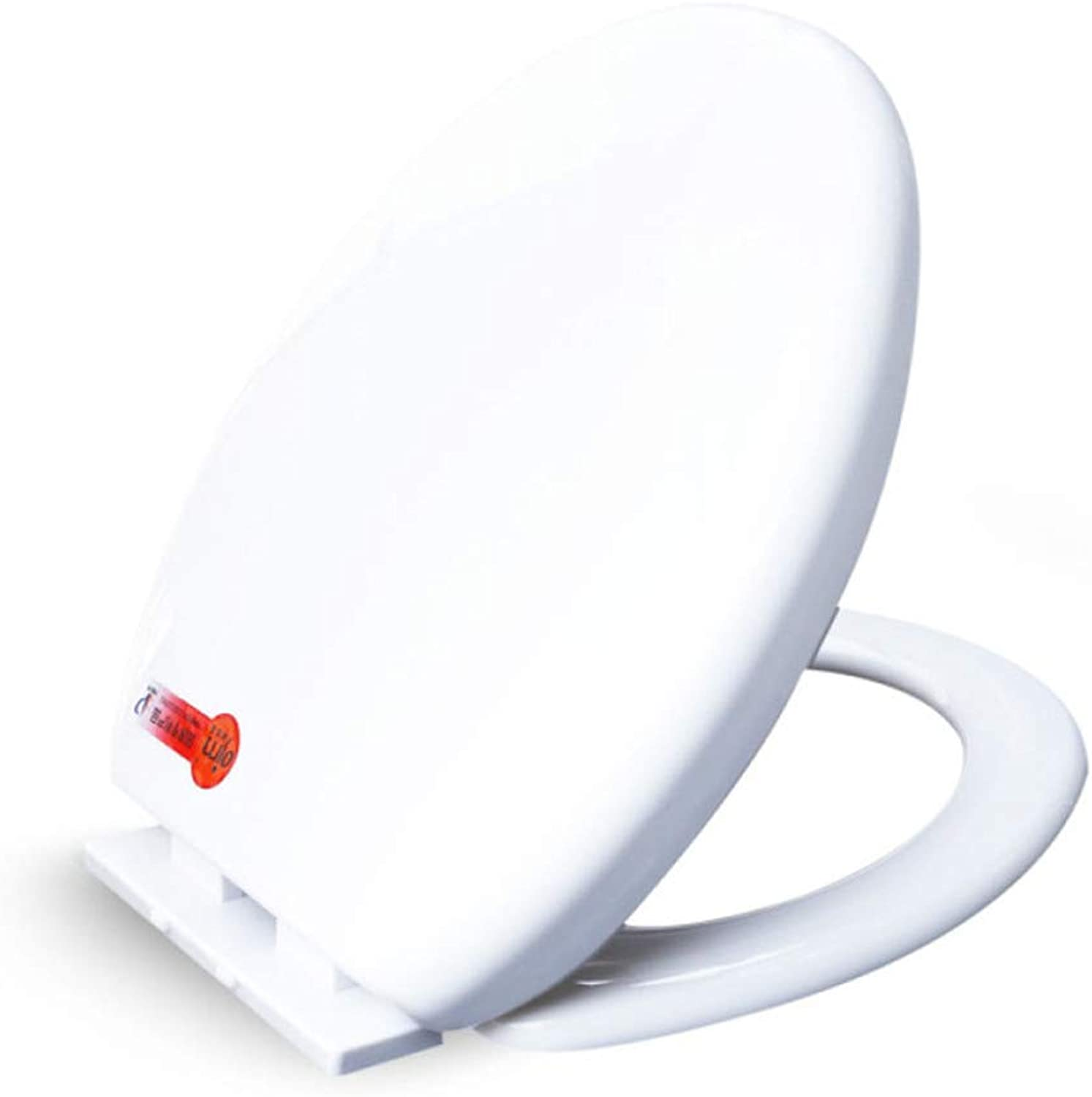 JHMY Family Toilet Seat Lowering Toilet Cover Accessories Thicken Mute O Type,White