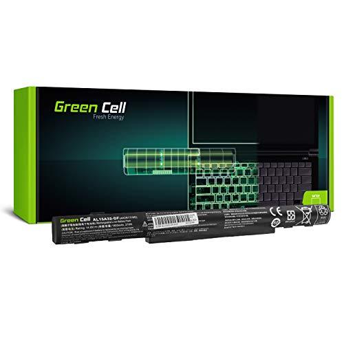 Green Cell® AL15A32 Batería para Acer Aspire E5-573 E5-573G E5-573TG E5-722 E5-722G V3-574 V3-574G TravelMate P277 Portátil (1800mAh 14.8V Negro)