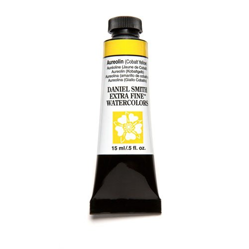 DANIEL SMITH Extra Fine Watercolor 15ml Paint Tube, Aureolin Cobalt Yellow