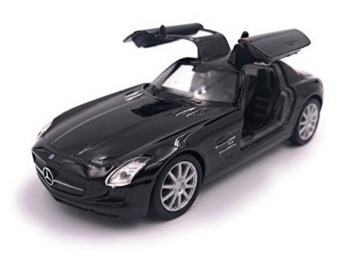 H-Customs Mercedes SLS AMG Modellauto Auto Lizenzprodukt 1:34-1:39 Schwarz
