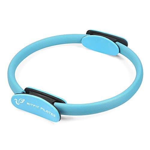 RitFit Pilates Ring - Premium Power Resistance Full Body Toning Fitness Circle - with Carrying Bag and Bonus eBook (Blue(New))