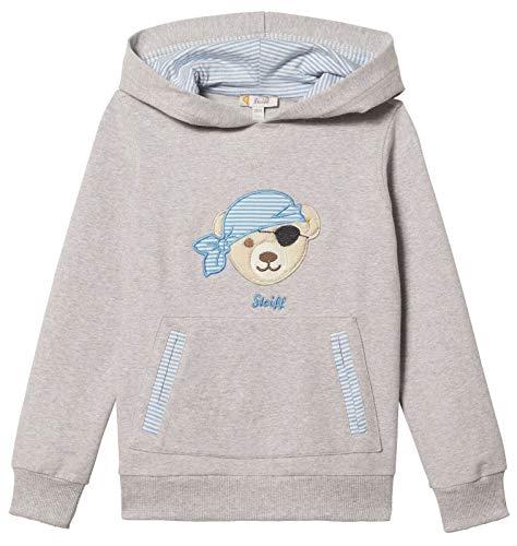 Steiff® Jungen Sweatshirt mit Kapuze Pirat, Präzise Farbe:Grau, Größe:86