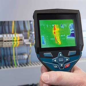 Bosch Professional 12V System Wärmebildkamera GTC 400 C (1x Akku 12V + Ladegerät, mit App-Funktion, Temperaturbereich: –10 °C bis +400 °C, Auflösung: 160 x 120 Pixel, in L-Boxx)