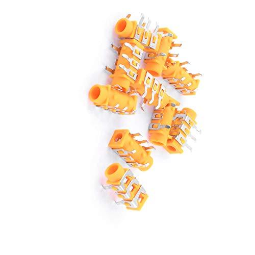 Aexit 10 Stück Orange Kunststoff MP3 Kopfhörer Headset 5 Pin PCB 3,5 mm Klinkenbuchse (80bef7fe8a55fa109376d7c4dcf7414b)