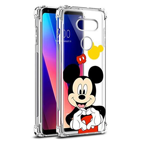 Nico für LG V30/LG V30 Plus/LG V30S/LG V35 ThinQ/LG V35 Hülle, TPU Niedlich Karikatur Mode Lustig Spaß Silikon Kinder Schutzhülle Hülle Cover Weiche Bumper Handyhülle für LG V30 (Heart Mouse)