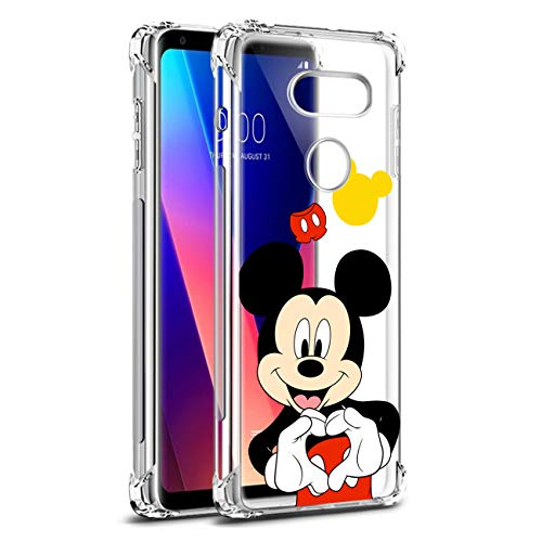 Nico für LG V30/LG V30 Plus/LG V30S/LG V35 ThinQ/LG V35 Hülle, TPU Niedlich Karikatur Mode Lustig Spaß Silikon Kinder Schutzhülle Hülle Cover Weiche Bumper Handyhülle für LG V30 (Heart Mickey)