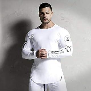 PAND New Fashion High-Elasticity Sporting T-Shirt Men Long Sleeve Fitness T Shirt Men'S Solid Gyms Bodybuilding T-Shirt Tee
