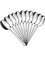 AURSTORE BASA – Juego de 12 cucharas pequeñas para café, etc. de acero inoxidable – Cuchara (9,5 cm)
