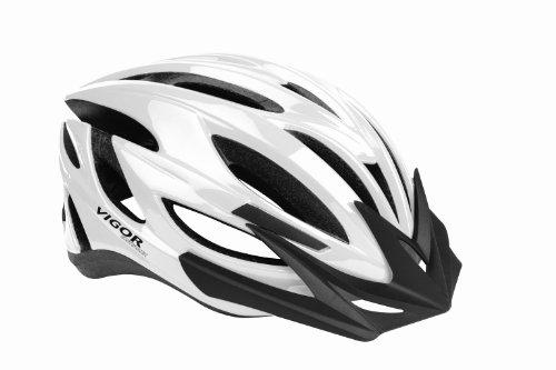 Vigor Helmets Fast Traxx 24 Vent CPSC Certified Performance Helmet, White, Small