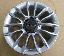 Fiat - Juego completo de ruedas para Fiat 500L Bridgestone (aluminio, 16')