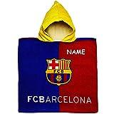 alles-meine.de GmbH Badeponcho / Kapuzenhandtuch - Fußball - FC Barcelona - FCB - inkl. Name - 100 % Baumwolle - 50 cm * 105 cm - 2 bis 6 Jahre Poncho - mit Kapuze - Frottee / Ve..