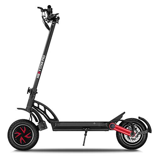 """Hiboy Titan PRO Electric Scooter - 2400W Motor 10"""" Pneumatic Tires Up to 40 Miles & 32 MPH Quick-Release Folding, Electric Scooter for Adults Dual Braking System, Off Road Scooter Long Range Battery"""