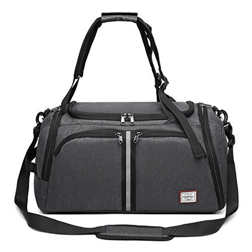 WindTook 40L Sporttasche Fitnesstasche Reisetasche Rucksack-Funktion Gym Bag Duffel Bag WeekenderTrainingstasche Travel Bag mit Schuhfach Tasche Herren Damen für Sport Fitness Gym Urlaub