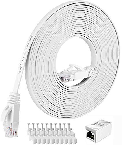 INWET 15m Cat6 Netzwerkkabel | High Speed Ethernet Netzwerk | Patchkabel | 250 MHz 1000Mbit/s Flach LAN Kabel Kompatibel mit Switch/Router/Modem/Patch-Panel | CAT6, AWG32,UTP, RJ45