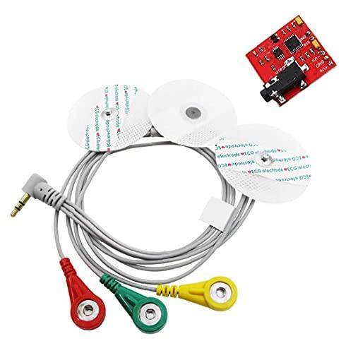 Obelunrp Sensor de señales musculares EMG DECTOR Controlador de electromiografía Detección de Actividad Muscular Herramienta de Bricolaje de Mano
