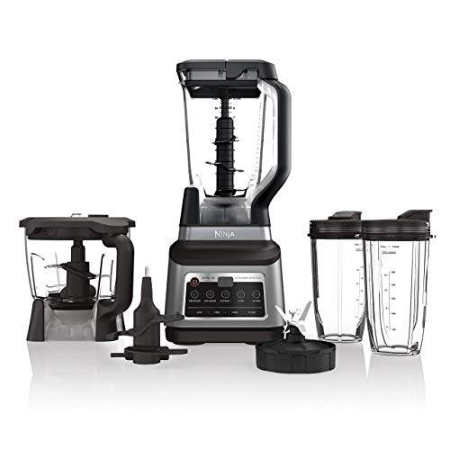 Ninja BN801 Professional Plus Kitchen System with Auto-iQ, and 64 oz. max liquid capacity Total Crushing Pitcher, in a Black and Stainless Steel Finish (Renewed)