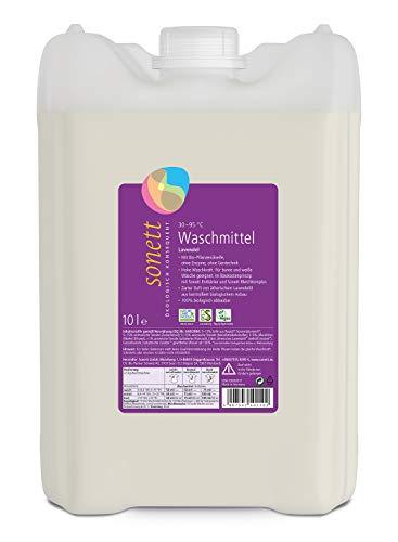 Lessive à la lavande : linge coloré et blanc, avec savon à l'huile végétale bio