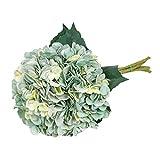 Tifuly Artificial Hydrangea Flower, 5 PCS Ramos de hortensias de Seda de Tallo Largo para Bodas, hogar, Hotel, decoración de Fiestas, centros de Mesa (Azul Eléctrico)