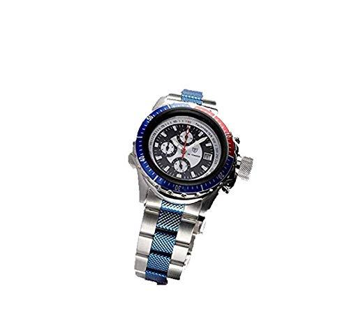 Detomaso G-35005A-BLU - Orologio da polso da uomo, con cronografo, colore: Blu