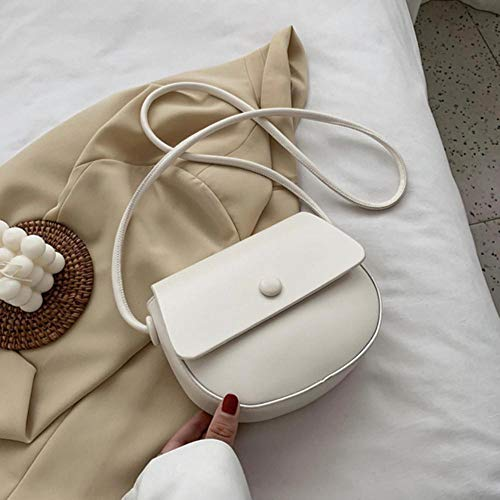 PANZZ Solid Color Bag Crossbody Bags Women Summer Shoulder Sacs à Main, Blanc, Mini