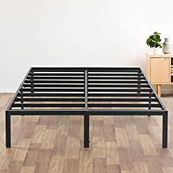 Olee Sleep 14 Inch T-3000 Heavy Duty Steel Slat Bed Frame 14BF04F