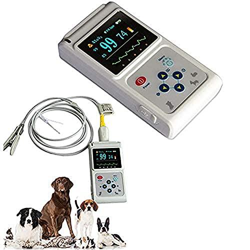 JYKCBP Pulsioxímetro Veterinario, Monitor de Pulso portátil de Oreja o Lengua, monitorización de la frecuencia cardíaca de Gatos y Perros para Uso en hospitales Familiares y de Mascotas 🔥