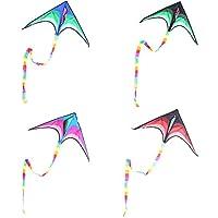 子供と大人の1ライン分の大デルタ凧凧ハンドルを飛ぶことは容易含めます (色 : 緑)