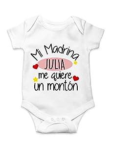 Body Mi Madrina Body de bebé Unisex personalizado mejor madrina
