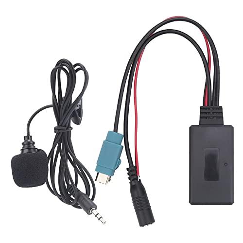 Akozon Kit de Coche Bluetooth 5.0 Adaptador AUX con Cableado de micrófono de 59,1 Pulgadas Apto para Alpine KCE ‑ 236B / CDA ‑ 9852 / E