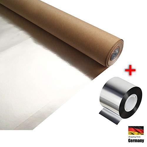 Sauna Alufolie 30m² + Aluklebeband 50m Aluminiumfolie, Dampfsperre für Saunabau