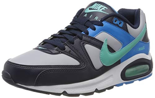 Nike Herren Air Max Command Traillaufschuhe, Mehrfarbig (Wolf Grey/Aurora Green-Blackened Blue 050), 43 EU