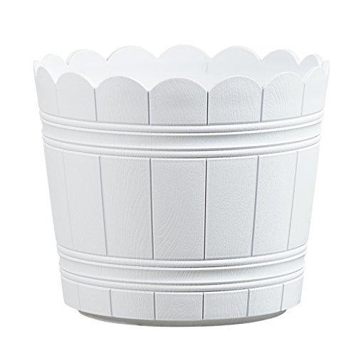 Emsa 515269 Blumenkübel für den Balkon, Shabby Chic, Ø 35 cm, Weiß, Country