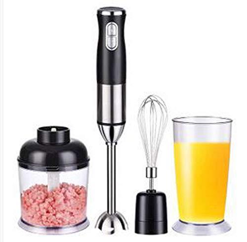 DAETNG Stabmixer 4 in 1, 200W 2-Gang, tragbarer Entsafter, Zerhacker/Schneebesen/Becher, Edelstahl für Küchenmesser, Obst, Fleischverarbeitungsmaschine, Küchen-Elektromixer