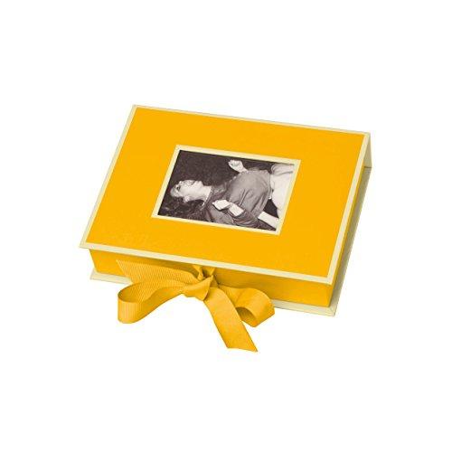 Semikolon Kleine Fotobox mit Einschubfenster sun, gelb, 20,7 x 15,3 x 4,7 cm