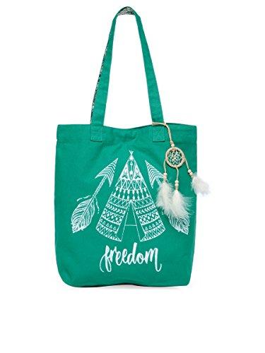 The House of tara Women's Tote Bag (HTT 349_Teal Green)
