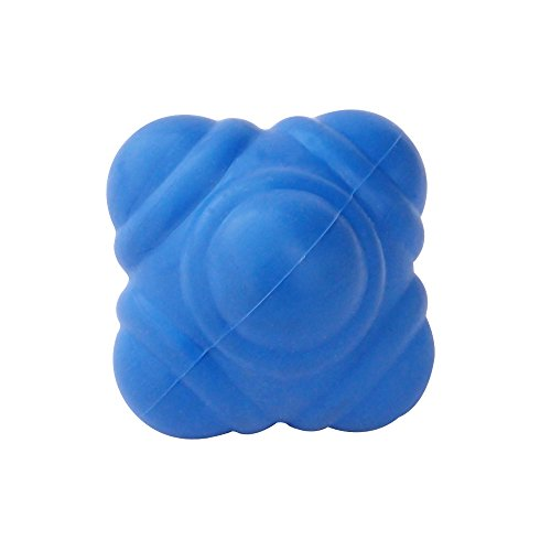 HealthAndYoga(TM) Rubber Reaction Ball for Improving Agility, Reflexes and Hand-Eye Coordination Skills - Small Handy Size