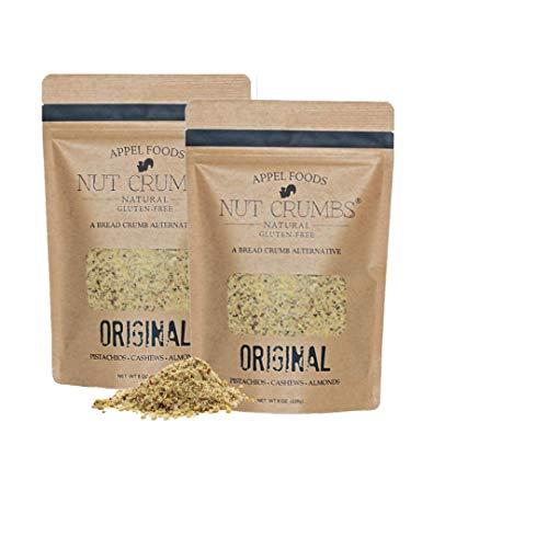 Appel Foods - Nut Crumbs - Bread Crumb Alternative - Gluten Free - Sugar Free - Low Carb - Low Sodium - Raw, Premium Nuts - New Flavors - Original - 2 pack