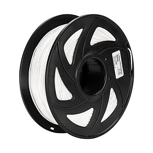 JIALUN ZFX-DAYIN, 1pc 3D Printer PLA ABS TPU Filament de 1.75mm Filament Précision dimensionnelle + -0.02mm 2.2lbs Matériel d'impression 3D Fit for RepRap (Color : TPU White)