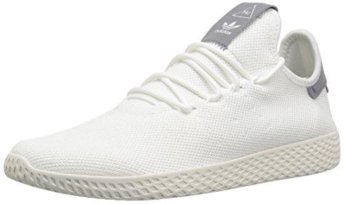 adidas Men's PW Tennis HU Sneaker, Carbon/Carbon/Chalk White, 10 Medium US