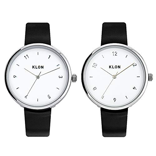腕時計 メンズ ブラック 人気 ブランド 防水 レザー おしゃれ レディース ユニセックス ペアウォッチ ペア 黒 KLON PASS TIME ELFIN 38mm (ペアセット)