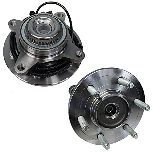 Detroit Axle - 6-Lug 4x4 Front Wheel Hub & Bearing Assembly Replacement for 2011-2014 Ford Expedition F-150 Lincoln Navigator (Exc. Heavy Duty) - 2pc Set