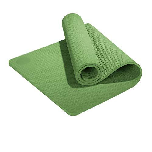 zlw-shop Esterilla Yoga Al Aire Libre del césped Espesado Cojín Principiante Antideslizante Yoga Mat Yoga Mat Plana Apoyo de Condición Física Colchoneta de Yoga (Color : A)