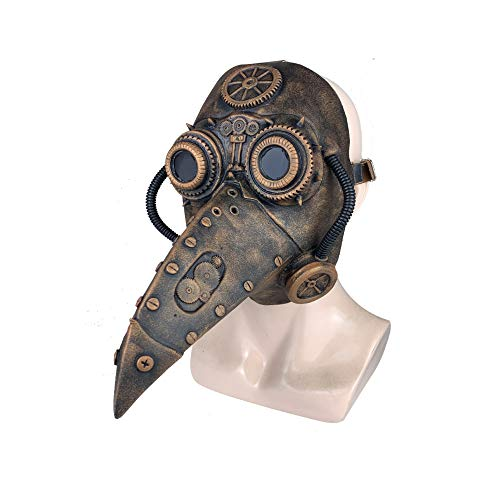 Plague-Maske Mittelalter Steampunk Pest Arzt Vogel Maske Latex Punk Cosplay Maske Schnabel Erwachsene Cosplay Requisiten