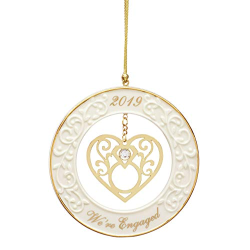 Lenox We're Engaged 2019 Gemstone Ornament