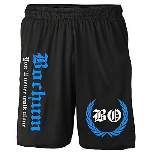 Bochum Kranz Shorts | Fussball Sport Ultras Kurze Hose Sporthose (XXL, Bochum Kranz M2)
